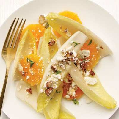 Endive and Tangerine Salad with Almonds and Feta