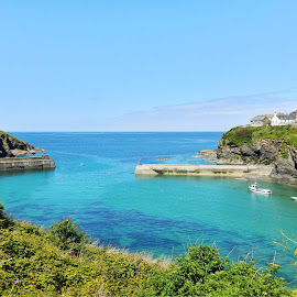 Port Isaac harbour by Cliff Oakley - Landscapes Waterscapes ( harbour water, nature, harbour, sea, seascape, landscape, coast, cornwall )