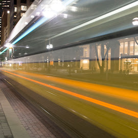 DART Hyperdrive by Robbie Green - Transportation Trains ( warp drive, dart, public transportation, dallas, train, transportation, warp, downtown )