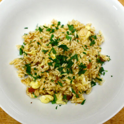 Saffron Fried Rice with Dried Apricots and Almonds