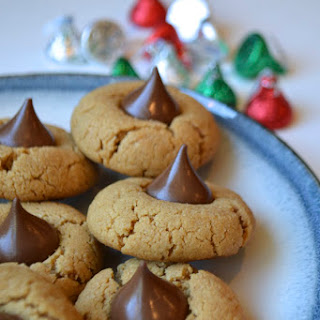 Chocolate Kissed Peanut Butter Cookies