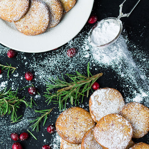 Cranberry Shortbread Cookies with Rosemary and Parmesan