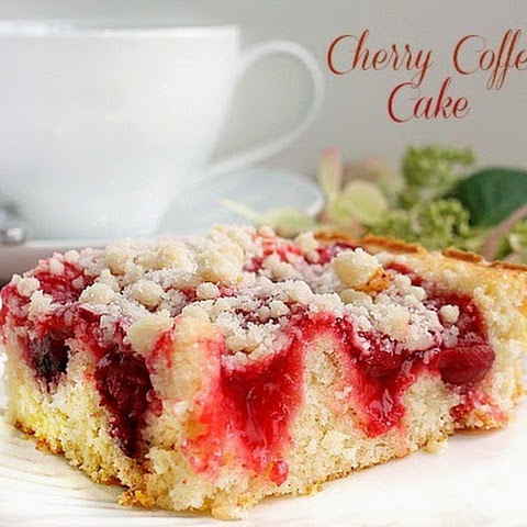 Cherry Coffee Cake with Crumb Topping