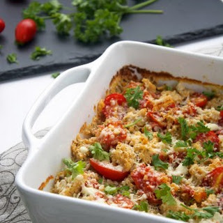Double Cheese White Pizza Quinoa Bake