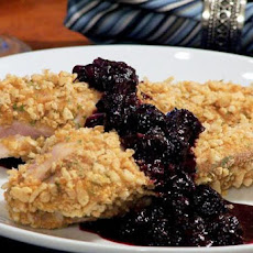 Krispy Chicken With Blueberry Sauce