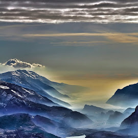 From Cima Paganella by Antonio Zarli - Landscapes Mountains & Hills (  )