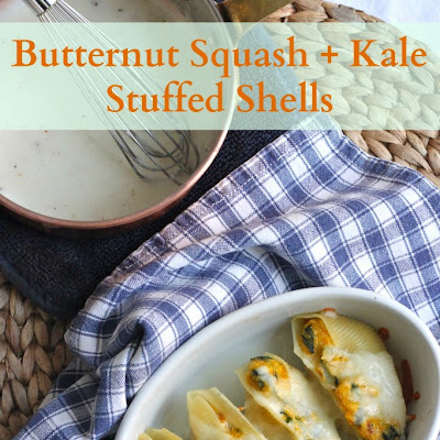 Butternut Squash and Kale Stuffed Shells