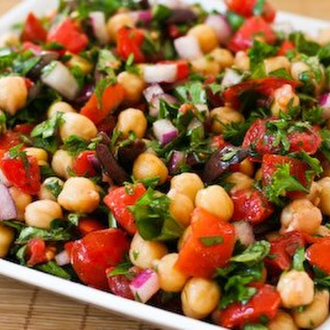 Summer Chickpea Salad with Honey Garlic Lime Vinaigrette Recipe ...