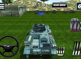 Screenshot of Army driving simulator - Tank