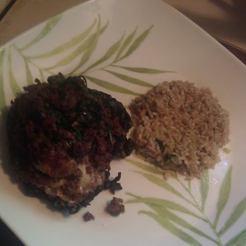 Stuffed Portobello Mushrooms with Brown Rice