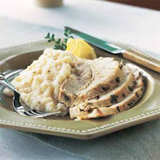 Herb-Roasted Turkey with Cheese Grits