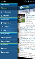 Screenshot of Fussball Transfers