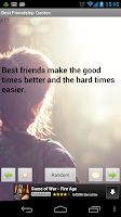 Screenshot of Friendship Quotes and Poems