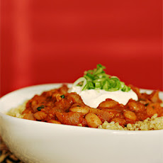 Pinto Bean Chili with Pan-Roasted Spices and Chipotle – Served with Quinoa