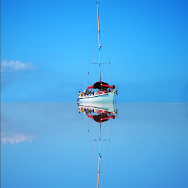 Refection by Jay Anderson - Transportation Boats ( vacation, swim, sea, boat, bahamas,  )