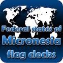 Micronesia flag clocks
