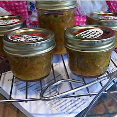 Green Tomato Hot Dog Relish