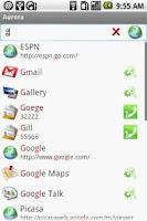 Screenshot of Aurora Universal Search