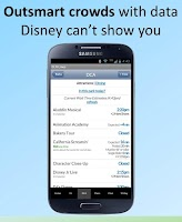 Screenshot of Disneyland Lines