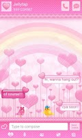 Screenshot of ♥ Cute Birds Love Theme SMS  ♥