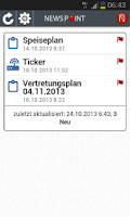 Screenshot of NewsPoint mobile
