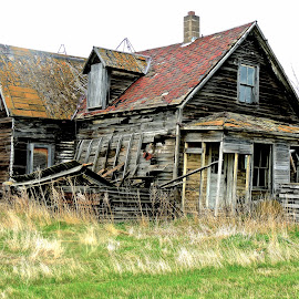 Abandoned  by Jom Archer - Buildings & Architecture Decaying & Abandoned ( potential, farmhouse, homestead, colorful past, abandoned,  )