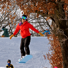 Airborne Snowboarder by Gary Amendola - Sports & Fitness Snow Sports