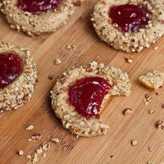 Strawberry Walnut thumbprint Cookies
