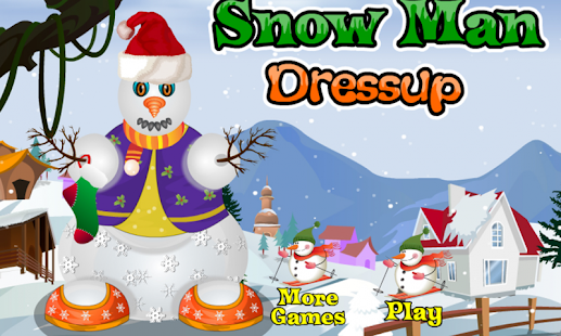 Snow stick man dress up - screenshot