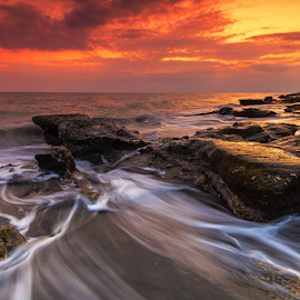 I surrender by Budi Astawa - Landscapes Beaches ( baluk, sunset, wave, jembrana, motion, negara )