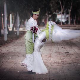 our love by G-en Are Lock Stuck - Wedding Bride & Groom
