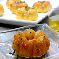 Mini Lemon-Thyme Pound-Bundt Cakes with Lemon-Thyme Glaze