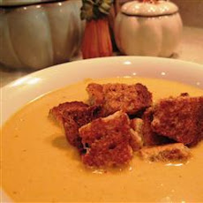 Pumpkin Soup With Cinnamon-sugar Croutons