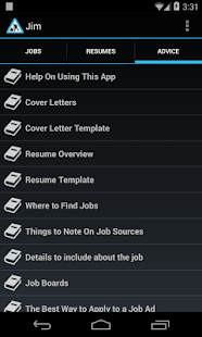 Jim Free:Improve Your Job Hunt - screenshot
