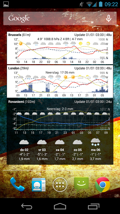 Meteogram Widget - Donate Screenshot 4