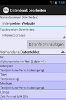 Screenshot of XLMSoft Datenbank