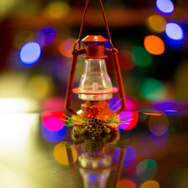 Lamp by Leah Varney - Artistic Objects Other Objects ( holiday, colorful, decoration, christmas lights, bokeh,  )