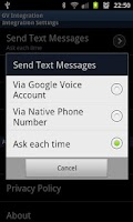 Screenshot of GV SMS Integration Free