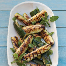 Grilled Zucchini Spears with Mint