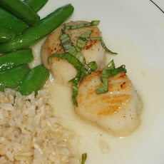 Seared Scallops with Lemongrass Sake Sauce