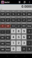 Screenshot of NeoCal Scientific Calculator