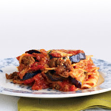 Light Beef and Eggplant Lasagna