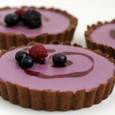 Berry Creme Tart With Cocoa Olive Oil Crust