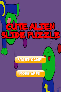 Cute Alien Slide Puzzle - screenshot