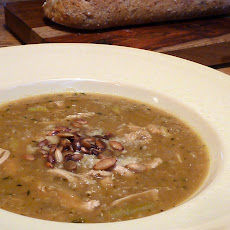 Quinoa Soup with Roast Chicken