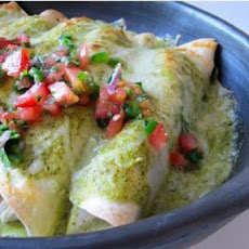 Chicken and Green Olive Enchiladas