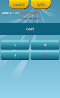 Screenshot of Periodic Table Quiz