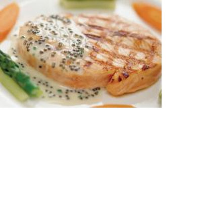 Peppered Tuna Steaks with Wasabi Mayonnaise
