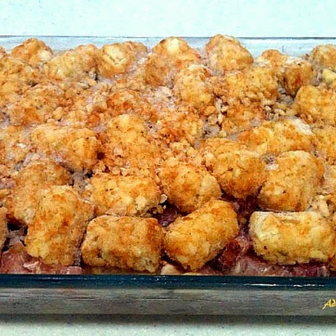 Turkey and Ham Tater Tots Casserole