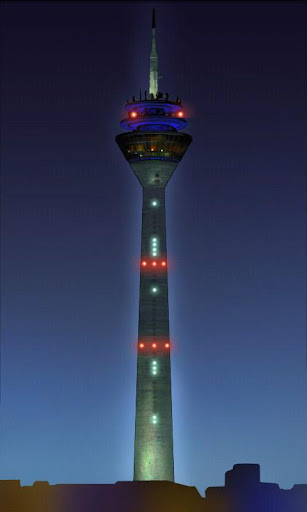 Düsseldorf Rhein Tower Clock